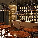 KUVV Perfetta retrò Ombrello Lampadario Loft Stile Industriale Vecchio Ferro Artigianato Artigianato Lampade Cafe/Ristorante/Bar personalità Art Deco Lights