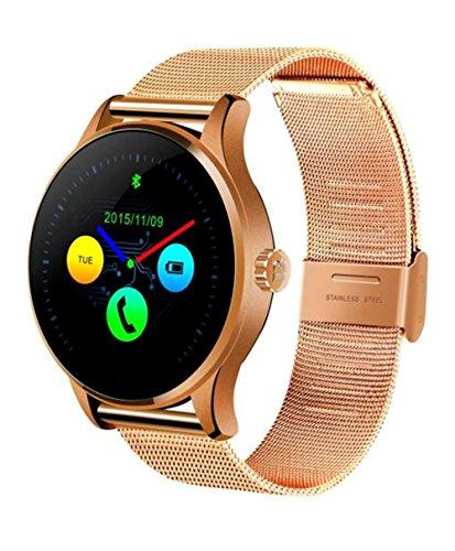 4 Light Post Oben (Fitness Tracker,Smart Armband COLORFUL K88H Bluetooth Smart Watch Herzfrequenz Track Armbanduhr Edelstahl , Bluetooth 4.0 Smart Watch Handy-Uhr für iPhone iOS 7.0 oder Android 4.3 oben Smartphone, 1.22 Zoll IPS ,Roségold)