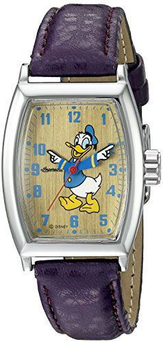 Ingersoll Donald Duck Unisex IND 25547 Ingersoll Disney Donald Tonneau Analog Display Quartz Purple Watch