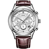 Best Chronograph Watches - BUREI Chronograph Quartz Wrist Watches with Scratch-resistant Mineral Review