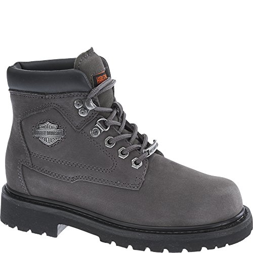 Harley Davidson Womens Bayport Leather Boots Charcoal Grey