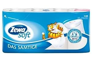 """Zewa Soft Toilettenpapier """"Das Samtige"""" weiss, 16 Rollen"""