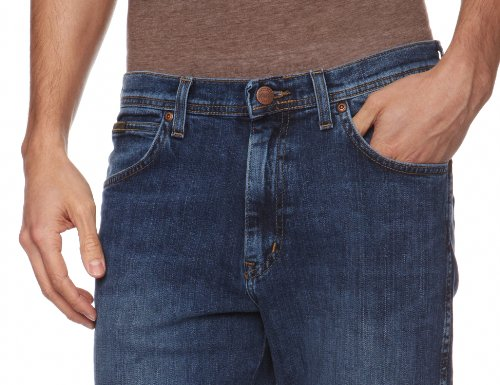 Wrangler - Arizona Stretch - Jeans - Droit - Homme Bleu (Canyon Blue)