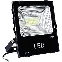 PryEU Faro Faretto a LED SMD per Esterno, 50W IP66 a Led Floodlight Proiettore Impermeabile, 4750lm, Luce Bianca Fredda 6500K, Equivalente a lampada da 150W sodio ad alta pressione