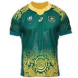 Maglia da Rugby da Uomo Australia Calcio Maglietta Home Away Maglie Fan Camicie Tuta da Corsa all'aperto Traspirante T-Shirt Traspirante,G,XL