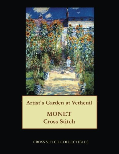 Artist's Garden at Vetheuil: Monet cross stitch