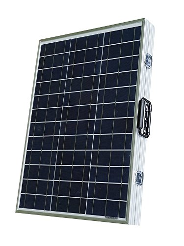 ECO-WORTHY Portatile 100W Kit Policristallino pannello solare Pieghevole W/ 15 Amp a energia solare con (Batterie Carry Di Sistema)