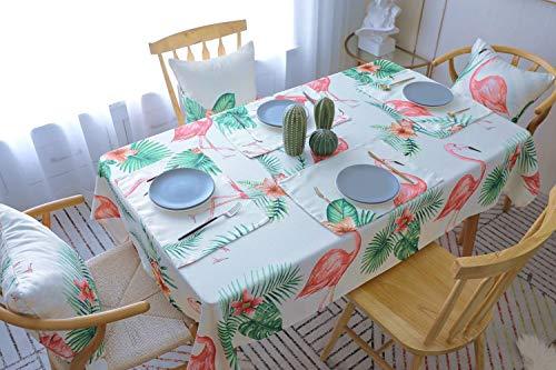 Drizzle Tischdecke Rosa Baumwolle Flamingo Eckig Modern Polyester Rechteck Platz Dekorationen Für Essen Kaffee Küche (51 * 86in/130 * 220cm) (Tischdecke Rechteck Küche)