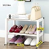 YGracks hölzern Massivholz Schuhregal Hause einfache kleine Schuhregal Staub Schuh Rack weiß Schuhe Lagerregal (größe : 50cm)