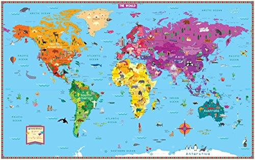 Kids' Illustrated World Map Folded por Rand Mcnally