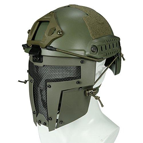 haoYK Casco de Deporte Multiusos Protector táctico Casco Airsoft Paintball MH Tipo...