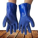 DUDDP Guantes de soldador Guantes químicos de látex Resistente al caucho Seguridad industrial Trabajo Guantes largos