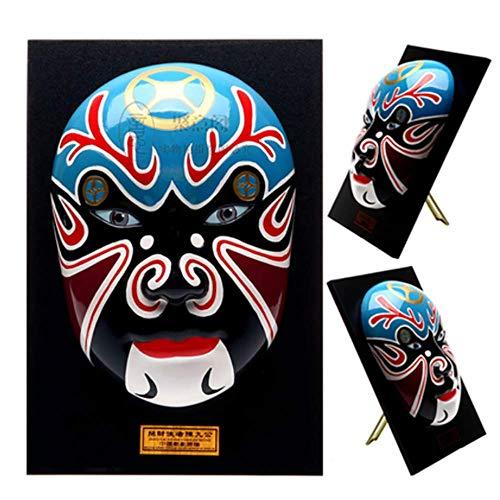 goper Maske Ornamente Keramik Kunsthandwerk Zum Festival Dekor Und Kunst-Sammlerstücke 28 * 5 * 19 cm,2 ()