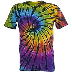 Tie Dye Contrast Rainbow / Black Spiral 701704 T-Shirt 200 M
