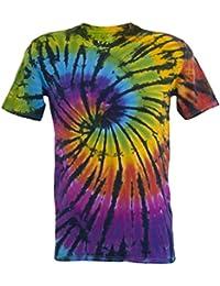 Tie Dye Contrast Rainbow / Black Spiral 701704 T-Shirt