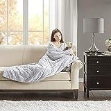 SCM Gewichtsdecke mit abnehmbarem Faux Mink Bezug Gesteppt Schwere Decke Weighted Blanket für...