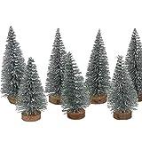 Mini Tannenbäume - Silber - Glitzer - Weihnachten - Miniaturtannenbaum - Weihnachtstanne - Weihnachtsbaum - Christbaum - Weihnachtsdeko - Minitanne - VE = 24 Stück - ca. 6 cm und 8 cm hoch - AF612376