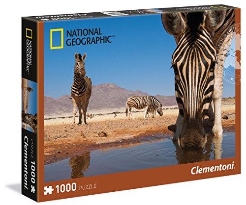 Clementoni - 39356.5 - Puzzle - National Geographic - Zébra - 1000 Pièces