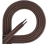 Ladeheid Qualitäts-Schnürsenkel aus 100% Polyester LAKO1001 (braun87, 110cm)