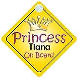 Quality Goods Ltd 002 Panneau pour voiture avec inscription «Princess On Board»
