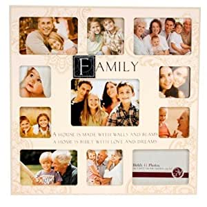 New View MDF Sentiment Stamp Photo Frame 11 Pics Family Crm