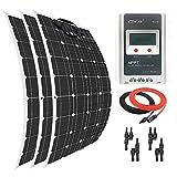 Giosolar Solar Panel 300W Flexible Solar Panel Kit Akku Ladegerät Monokristallines 30A LCD MPPT Laderegler für Boot Caravan netzferne