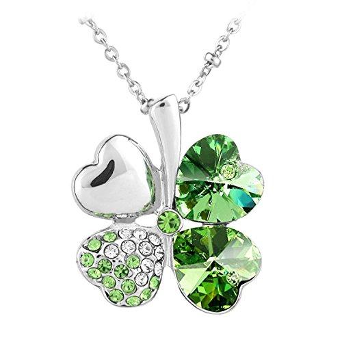 le-premiumr-quadrifoglio-cuore-ciondolo-a-forma-di-swarovski-peridoto-verde