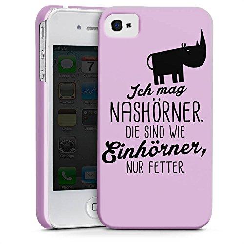 Apple iPhone 5c Silikon Hülle Case Schutzhülle Nashörner Einhorn Spruch Premium Case glänzend