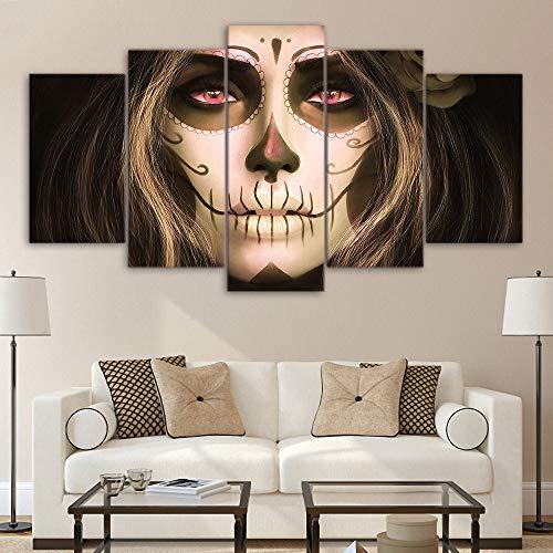 nf leinwand malerei Halloween Gesicht Dekoration malerei HD Spray malerei Kern Wohnzimmer Dekoration malerei Stil C 30x40cmx2 30x60cmx2 30x80cmx1 ()
