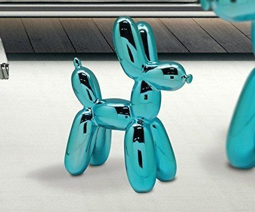 Gilde déco chien 'Ballou', 23 cm, bleu