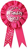 Beistle 60417 Birthday Girl Award Ribbon, 3-3/4-Inch by 6-1/2-Inch