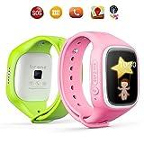 TURNMEON® Touch Screen Kinder Smart Watch für Kinder Smartwatch Telefon mit GPS Tracker Anti verloren SOS Handgelenk Armband für App Control (Grün) - 4