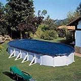 Manufacturas Gre CIPROV611 - Cubierta de invierno para piscinas ovaladas, 610 x 375 cm