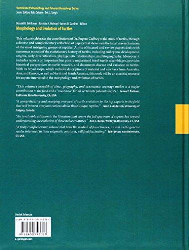 Morphology and Evolution of Turtles (Vertebrate Paleobiology and Paleoanthropology)