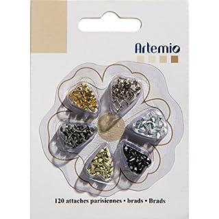 Artemio 120-Piece Mini Brads, Classic