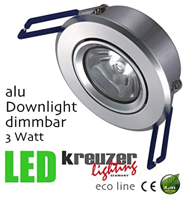 kreuzer lighting LED Downlight Alu Serie 3W (1x3W), 2700K ECO Line von kreuzer lighting - Lampenhans.de