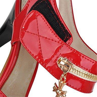 LvYuan Da donna-Sandali-Formale Serata e festa-Innovativo Club Shoes-A stiletto-Vernice-Nero Rosso Bianco Black