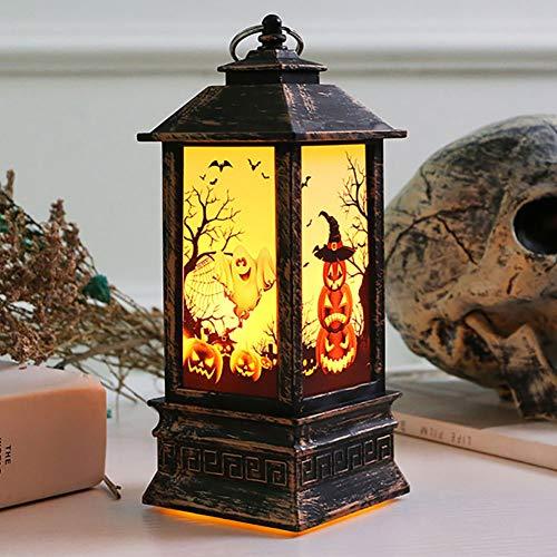 ybbghio Weinlese-Kürbis-Hexe-Geist-Entwurfs-Handflammen-LED-Licht, Halloween-Dekor-Lampen-Laterne Geisterhand