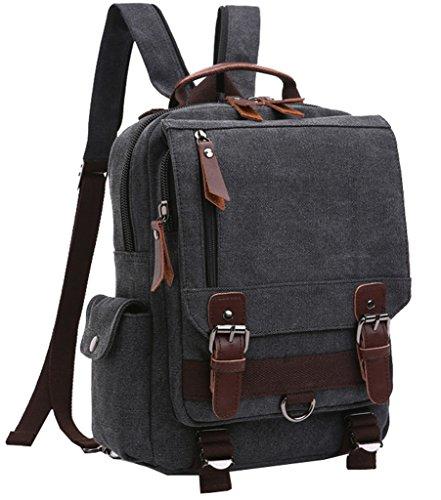 Super Modern Vintage Unisex Leinwand Rucksack/Rucksack/Schulranzen Wandern Travel ein Tasche Grau