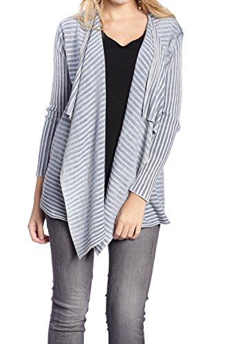 Abbino IG001 Cardigans Donne Ragazze - Prodotto in Italia - Multiplo Colori - Cardigans Eleganti Ragazze Moda Transizione Primavera Estate Casual Comodo Festivo Tenerezza Attraente Fascino Blu (Art. 62554C)
