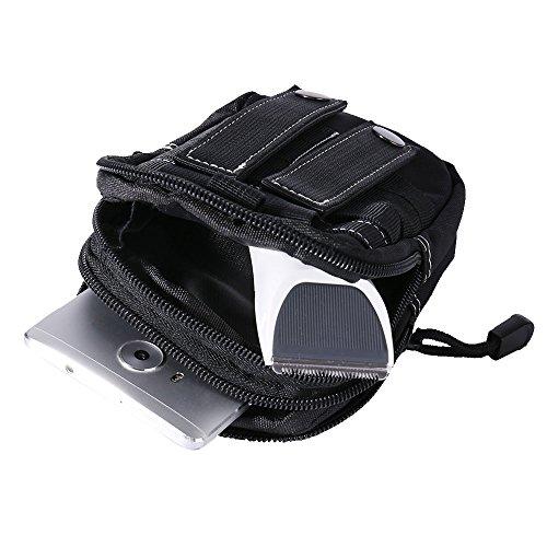 WILLIAM&KATE Multifunktions-Unisex Outdoor Taktische Schulter Reise Sport Camping Wandern Trekking Taschen Taille Packs Schwarz