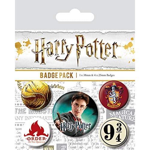 Pyramid International, Harry Potter Gryffindor Paquete Medalla, multicolore, 10 x 12.5 x 1.3 cm 1