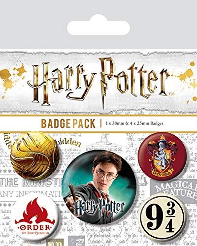 Badge Pack Pyramid Harry Potter Gryffindor
