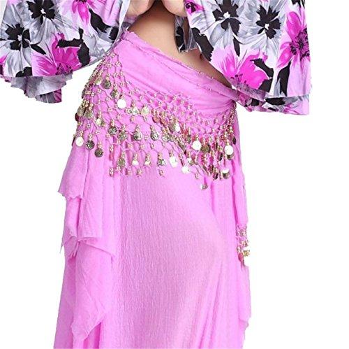 Dance Accessories Tribal Danse du ventre costume Hip écharpe purple