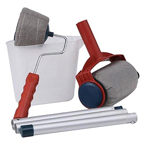 Roller pennello pittura,rullo pittura anti gocciolamento 5 pcs/set, per casa e giardino pittura murale