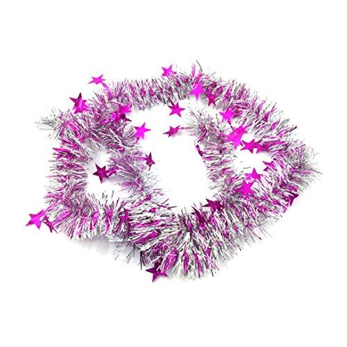 e Bar Weihnachtsbaum Dekoration Xmas Party hängende Ornamente (Hot Pink) (Pink Christmas Ornamente)