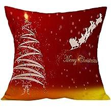 Fami Natale cuscino federe divano tiro copre decorazioni per la casa H