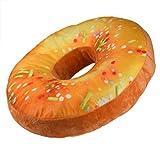 Kissen,Amlaiworld Donut-förmigen Plüsch weichen Neuheit Stil Kissen Ringkissen (Orange)