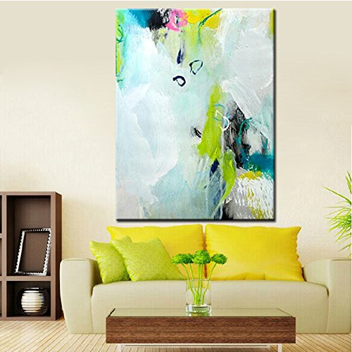 TTKX@ Hand Painted Simple Abstract Oil Paintings Modern Art Colors for Living Room Wall Decoration Pictures Unframed Canvas Wall Art,70X100Cm