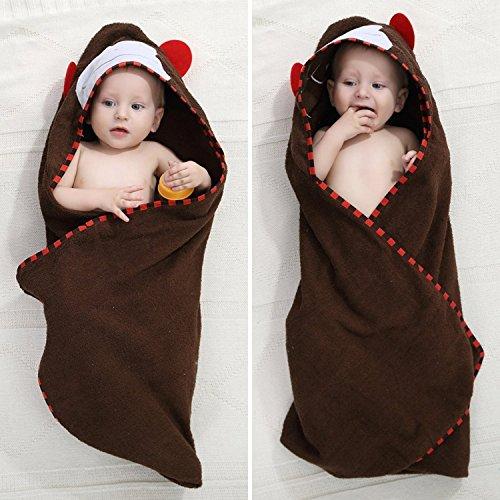 Kuyou Baby Peignoir avec capuche mixte enfant animal costume Café